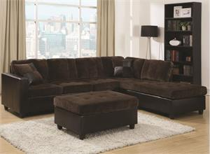 Mallory Reversible Sectional 505645 Coaster,505645 coaster