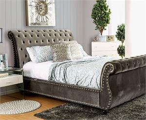 Noella Bed CM7128GY,cm7128gy furniture of america