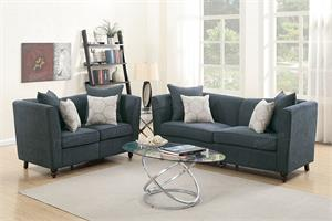 Slate Sofa and Loveseat Set Poundex F6897,f6897 poundex