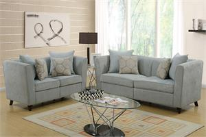 Taupe Sofa and Loveseat Set Poundex F6898,f6898 poundex
