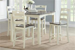 5 Piece Counter Height Dining Set Poundex F2544,f2544, f2544 poundex
