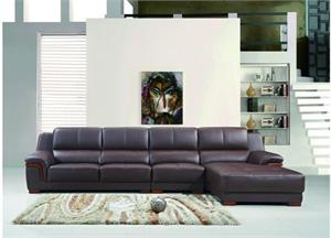 Capri Brown 3 Piece Leather Sectional,p712 max west,p712 brown sectional,p712 maxwest