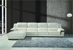 Capri Cream 3 Piece Leather Sectional,p712 maxwest