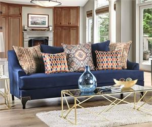 Sisseton Navy Sofa Collection, sm2210 furniture of america,sm2210 sofa