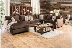 Wessington U Shaped Sectional SM6111,sm6111 furniture of america