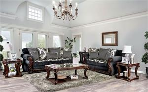 Whitland Grey Sofa Collection,sm6218 sofa,sm6218 traditional sofa, sm6218 furniture of america