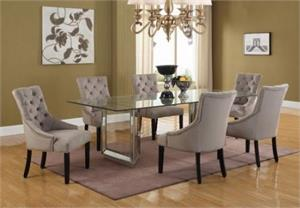 Mirror Dining Set.t1805 best master,mirrored table