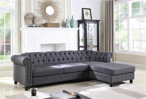 Venice Upholstered Charcoal Sectional,ys001 sectional. ys001 bestmaster furniture