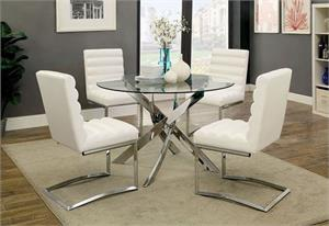 Yasmin White Dining Set CM3381,cm3381 furniture of america,cm3170 chair,cm3170 furniture of america