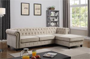Venice Upholstered Beige Sectional,ys001 bestmaster, ys001 sectional