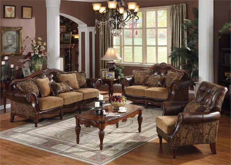 Dreena Acme Traditional Sofa Set