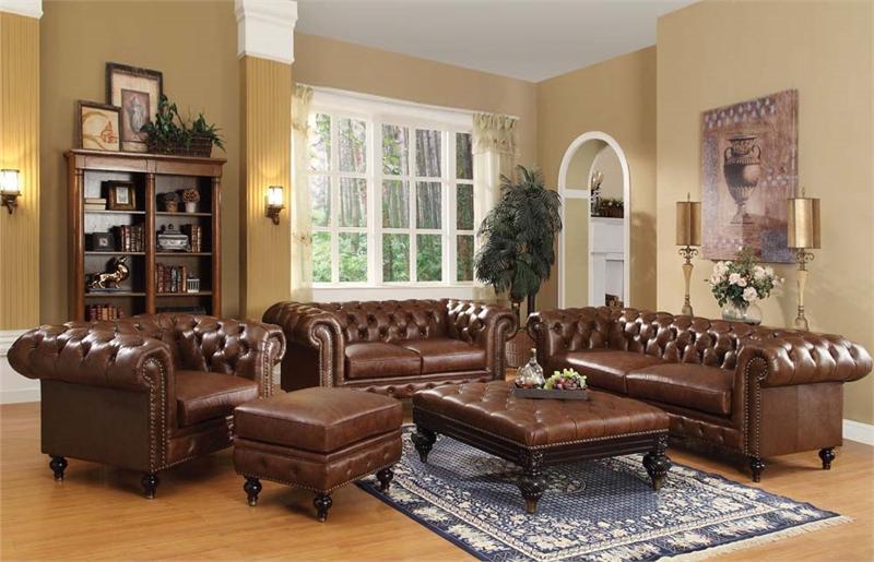 Marvelous Shantoria Brown Sofa Set Acme 51315