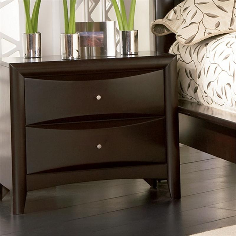 Genial Leather Headboard Storage Bed   Pheonix Collection Espresso Nightstand    Pheonix Collection