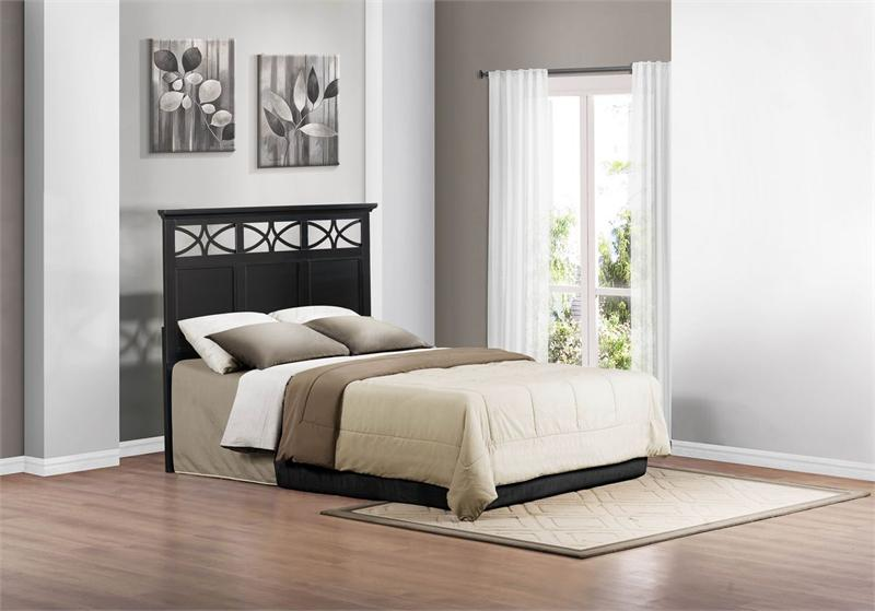 queenfull black headboard sanibel collection