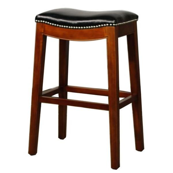black elmo leather bar stool