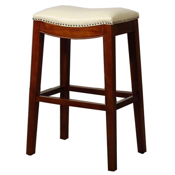 Elmo Bounded Leather Bar Stool