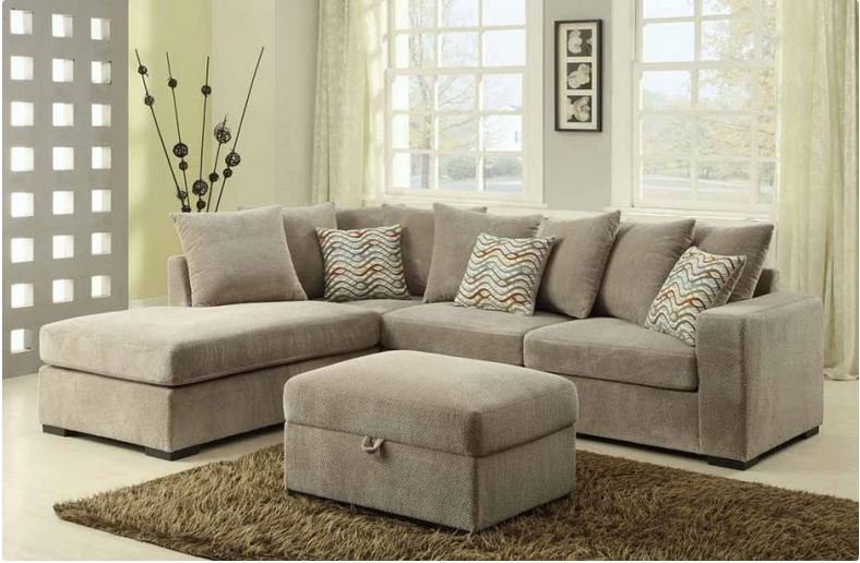 Taupe Olson Reversible Sectional Coaster 500044. : coaster sectionals - Sectionals, Sofas & Couches