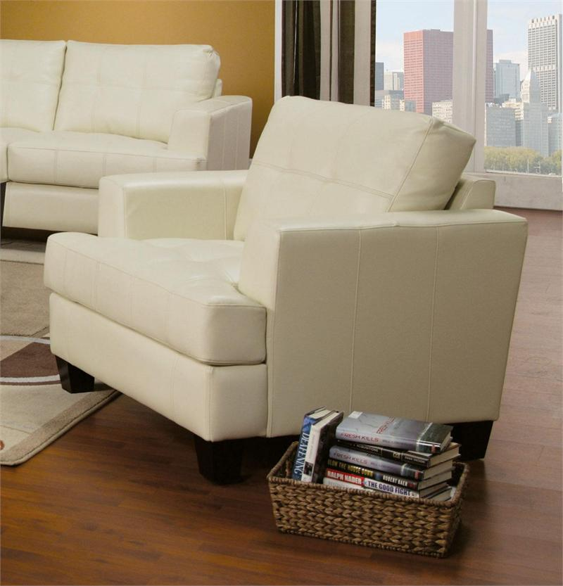 cream chair with ottoman leather sofa set samuel collection item 501691 13581 | 501693