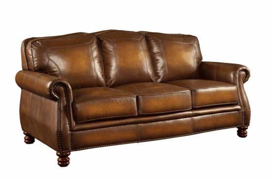 Leather Furniture Traveler Collection: Coaster 503981 Montbrook Leather Sofa Collection