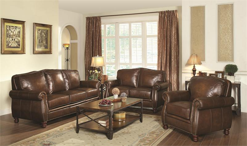 Coaster 503981 Montbrook Leather Sofa Collection
