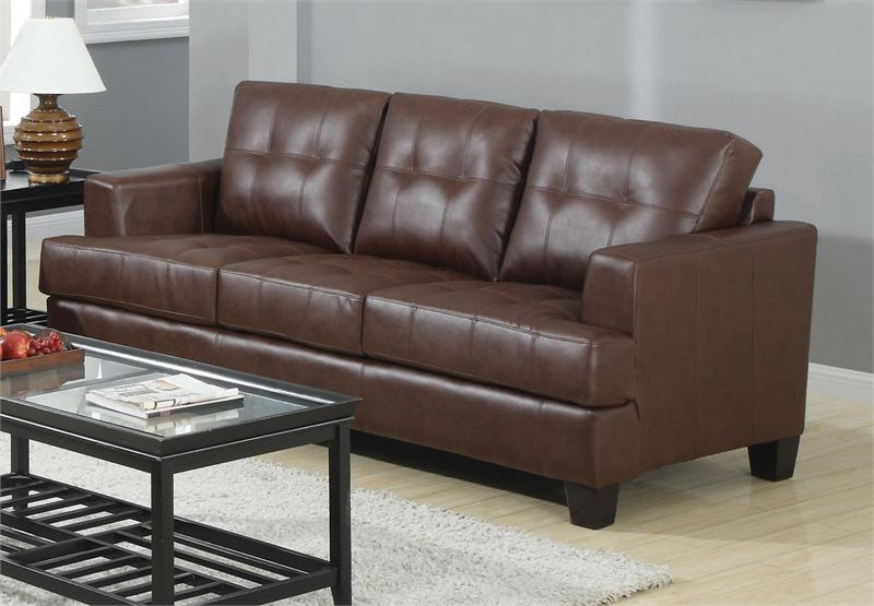 Brown leather sofa set samuel collection item 504071 - Cheap living room furniture toronto ...