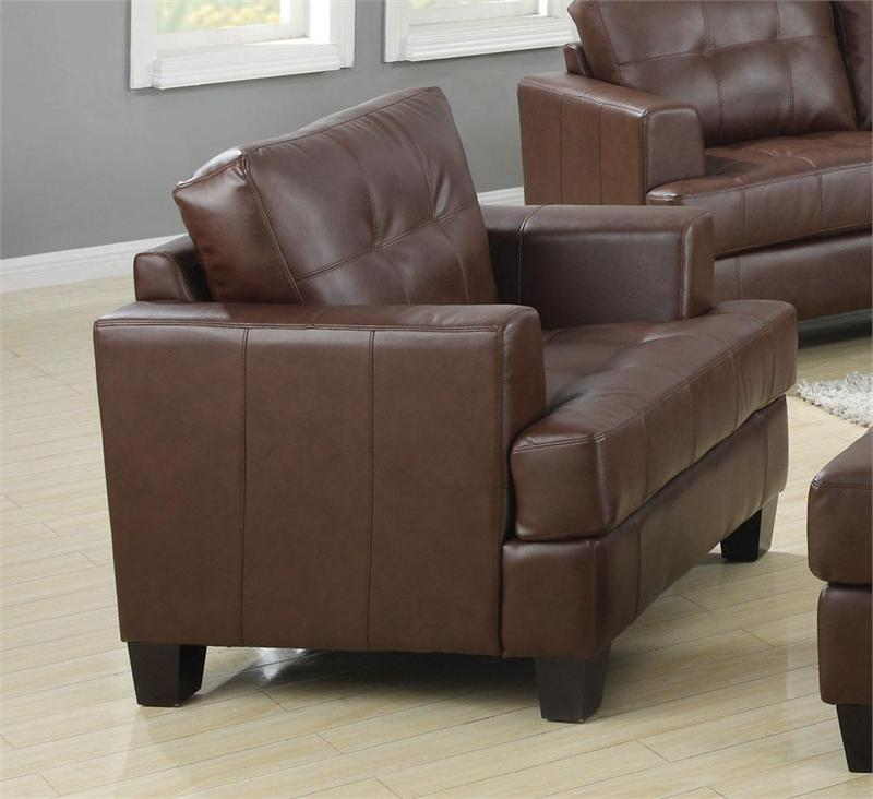 Brown Leather Sofa Set Samuel Collection Item 504071