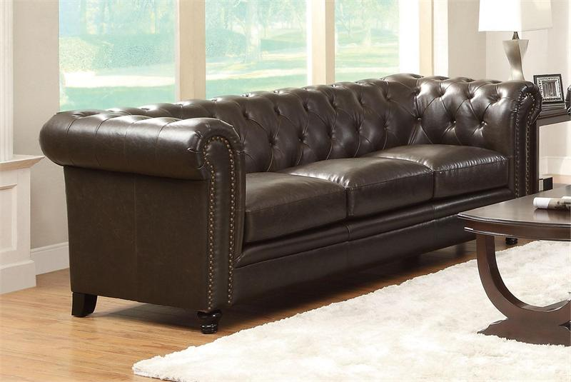 Sofa   Roy Brown Sofa Set Coaster 504551