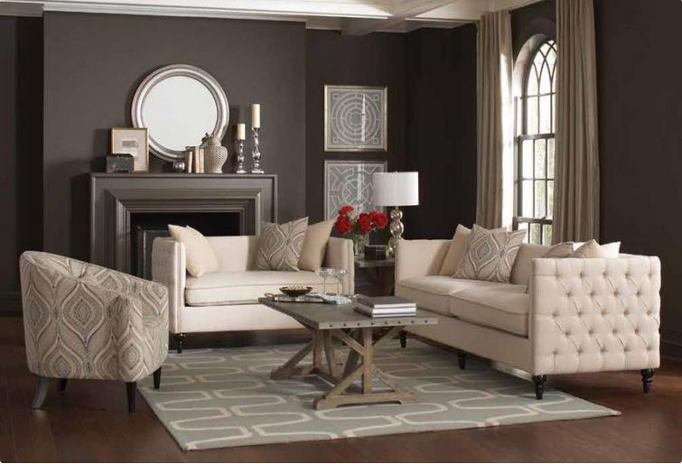 Claxton Beige Living Room Set