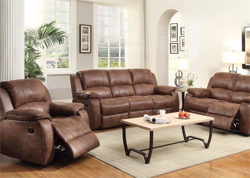 Wonderful Zanthe II Padded Suede Recliner Sofa Set
