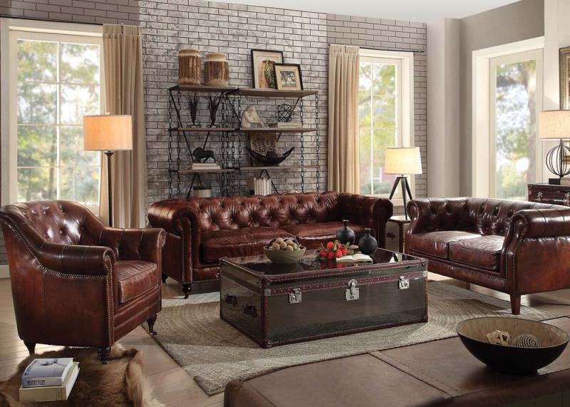Aberdeen Acme Top Grain Leather Sofa Collection