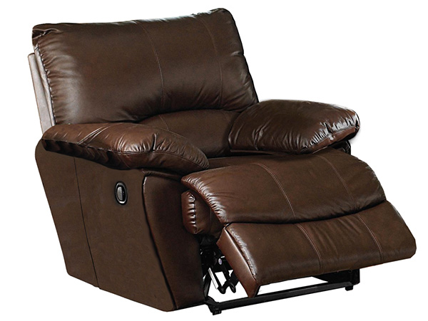 Surprising Top Grain Leather Recliner Set Clifford Collection Interior Design Ideas Pimpapslepicentreinfo
