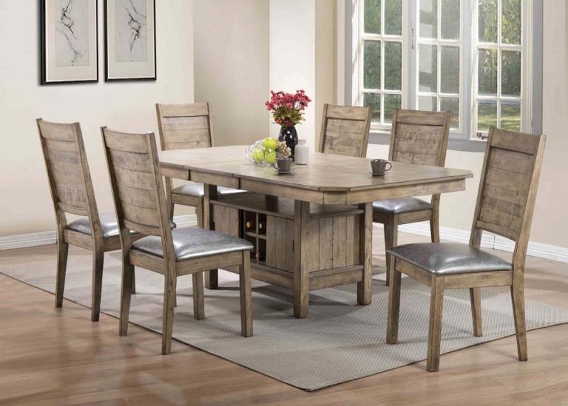 Ramona Rustic Oak Dining Set