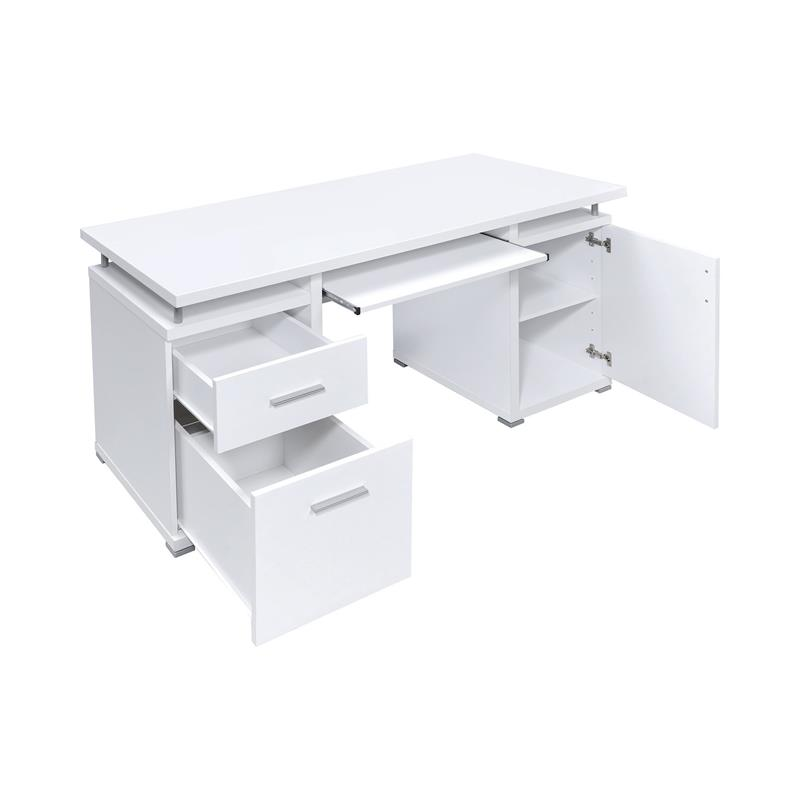 Tracy 2 Drawer Computer Desk White By