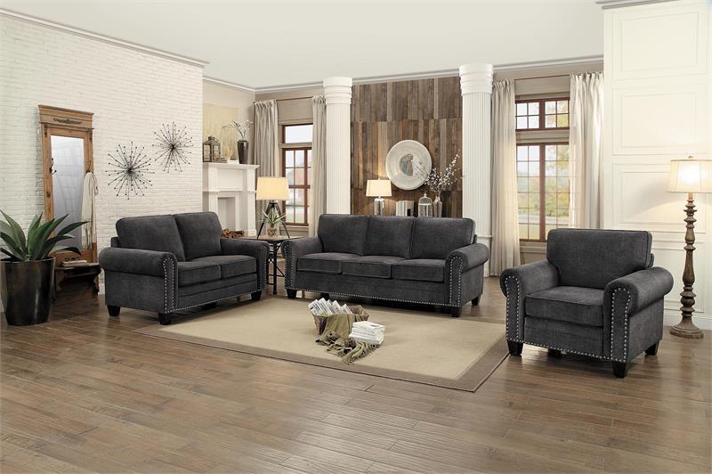 8216DG Homelegance Cornelia Dark Grey Sofa Set Collection