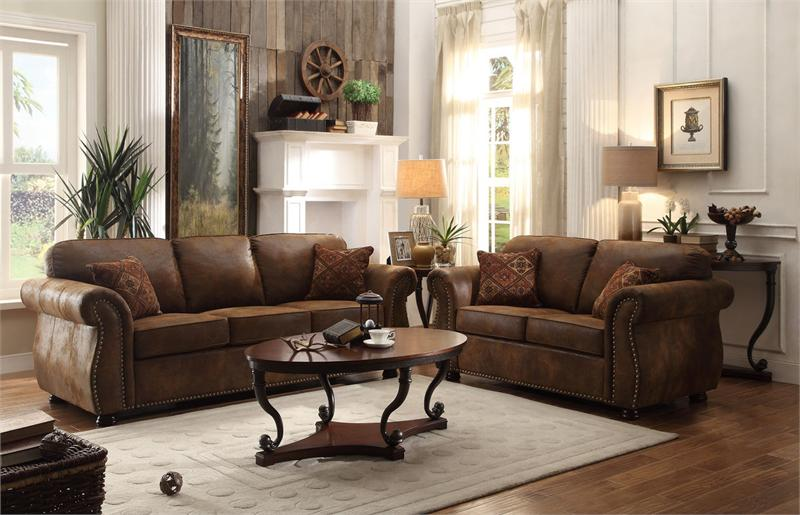 Corvallis Brown Bomber Jacket Sofa Set Collection