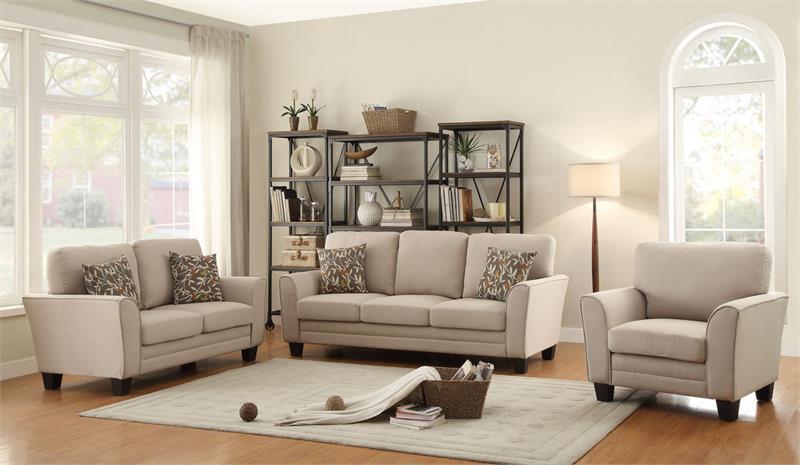 Adair Beige Sofa Set Collection