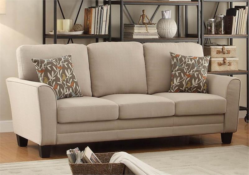 Beige Sofas. Adair Beige Sofa Set Collection Sofas B