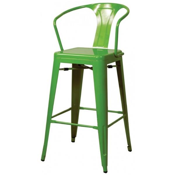 Metropolis Metal Arm Bar Stool Green Color Item 938530 G