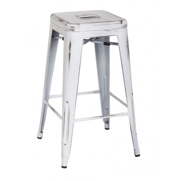 Distress Metropolis Metal Bar Stool