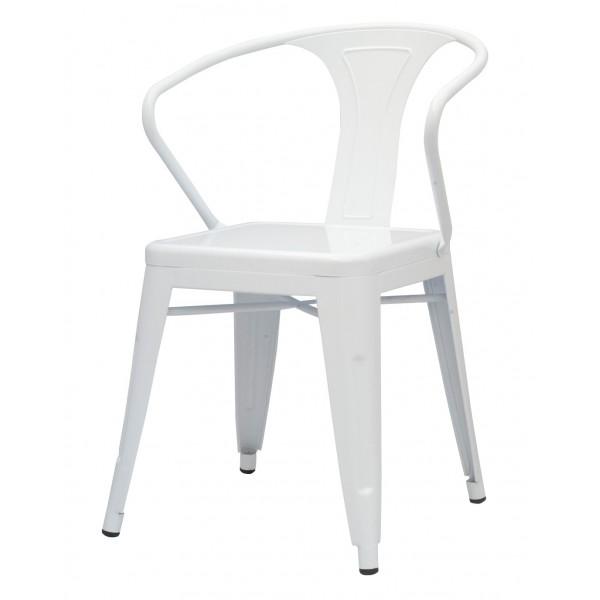 ... Metropolis Metal Arm Chair White Color Item 938731 W