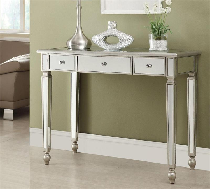 Laura Mirrored Console Table
