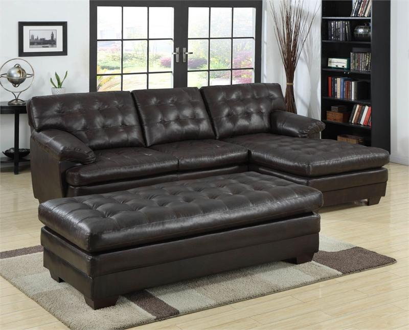 Brooks Brown Leather Sectional