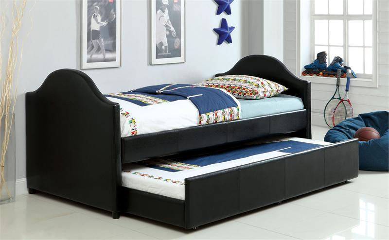 cresson black twin day bed with trundle