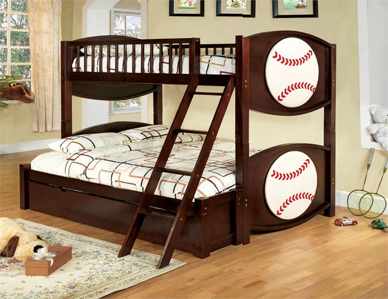 Baseball Twin Over Full Bunk Bed Olympic V Collection