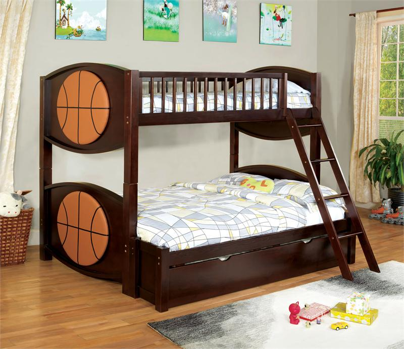 Basketball Twin Over Full Bunk Bed Olympic V Collection