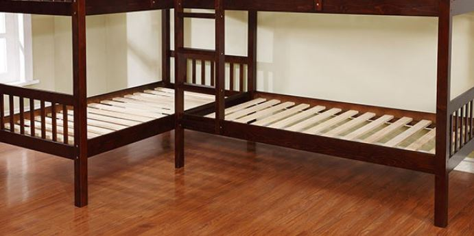 Cm Bk904 Marquette L Shaped Quadruple Twin Bunk Bed