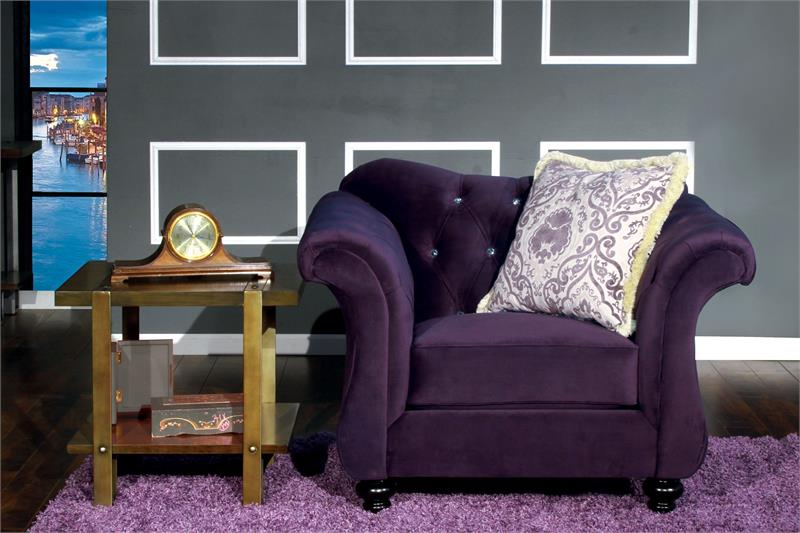 Chair   Antionette Purple Sofa Set SM2222 Part 65