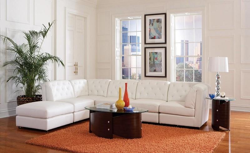 Astonishing White Modular Sectional Quinn Collection Ncnpc Chair Design For Home Ncnpcorg