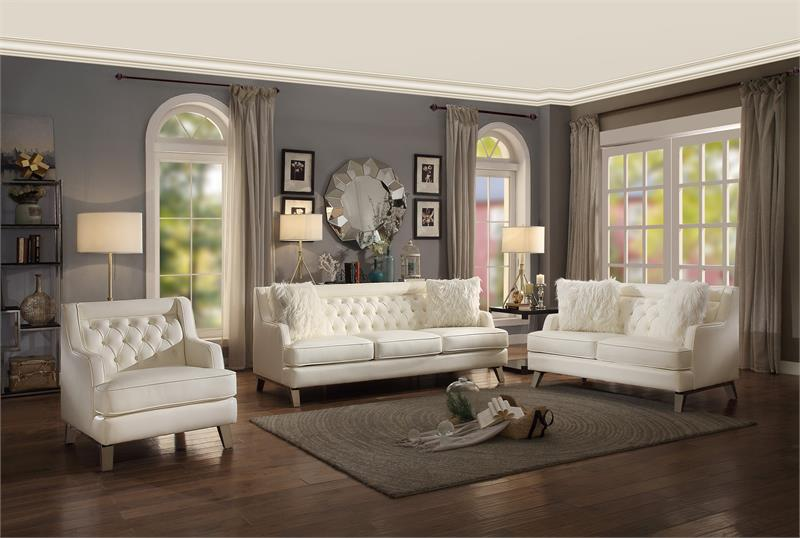 Delicieux Nevaun Cream Sofa Set Collection