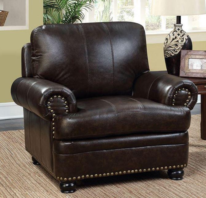 Rheinhardt Dark Brown Top Grain Leather Sofa Set Collection